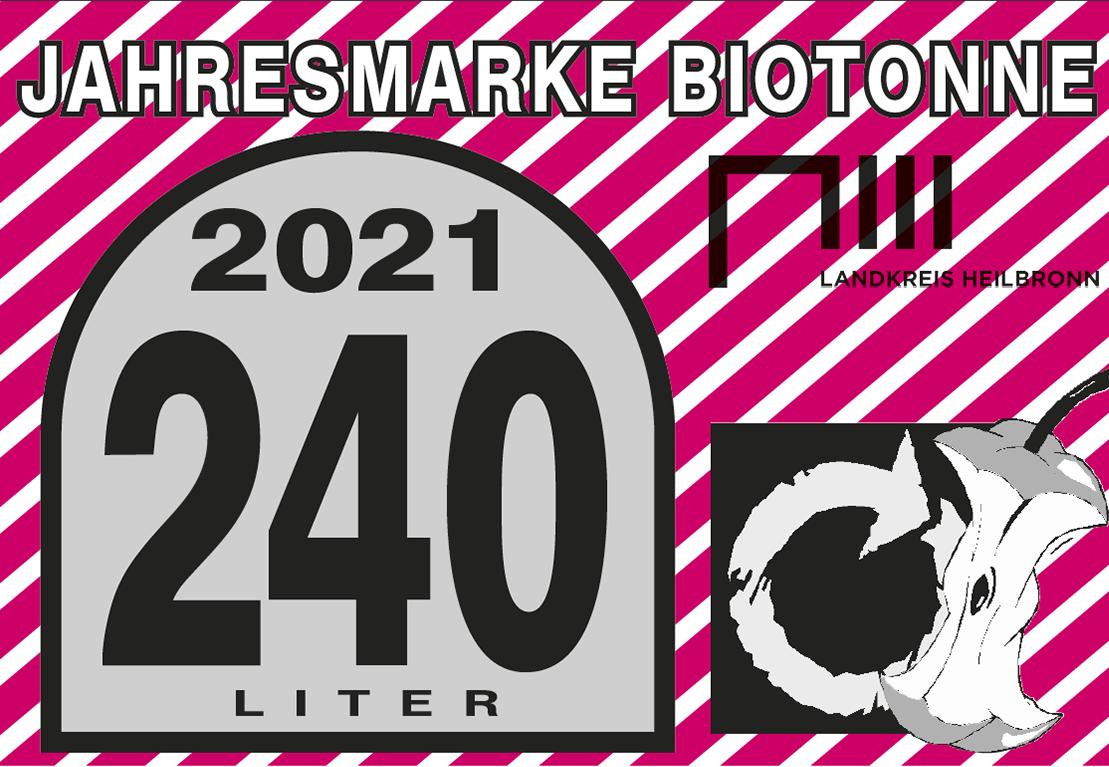 Jahresmarke 240-Liter-Biotonne