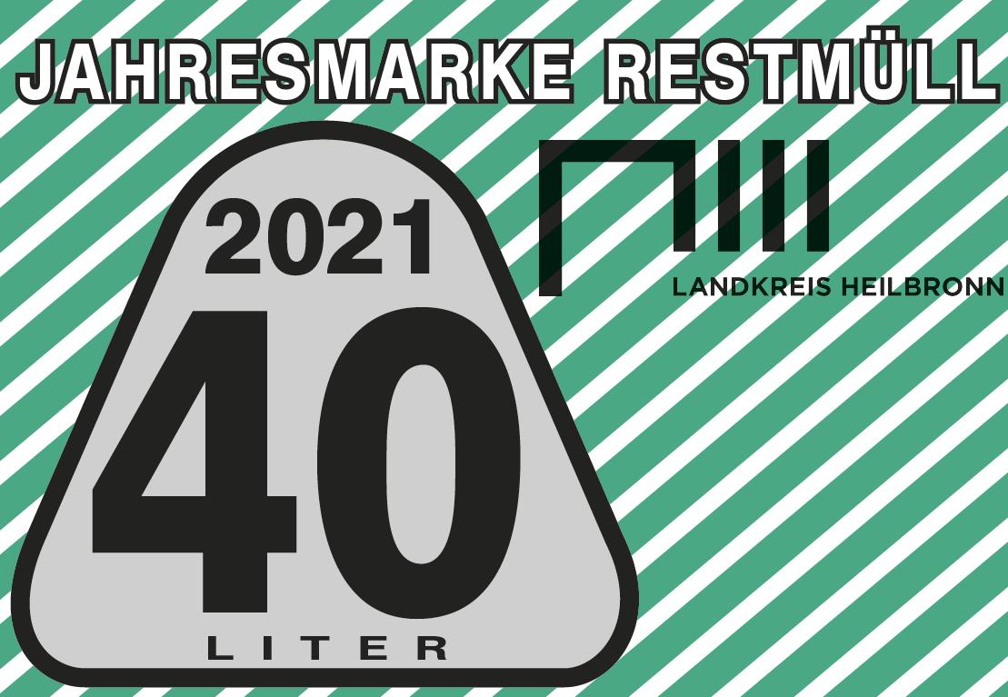 Jahresmarke 40-Liter-Restmülltonne