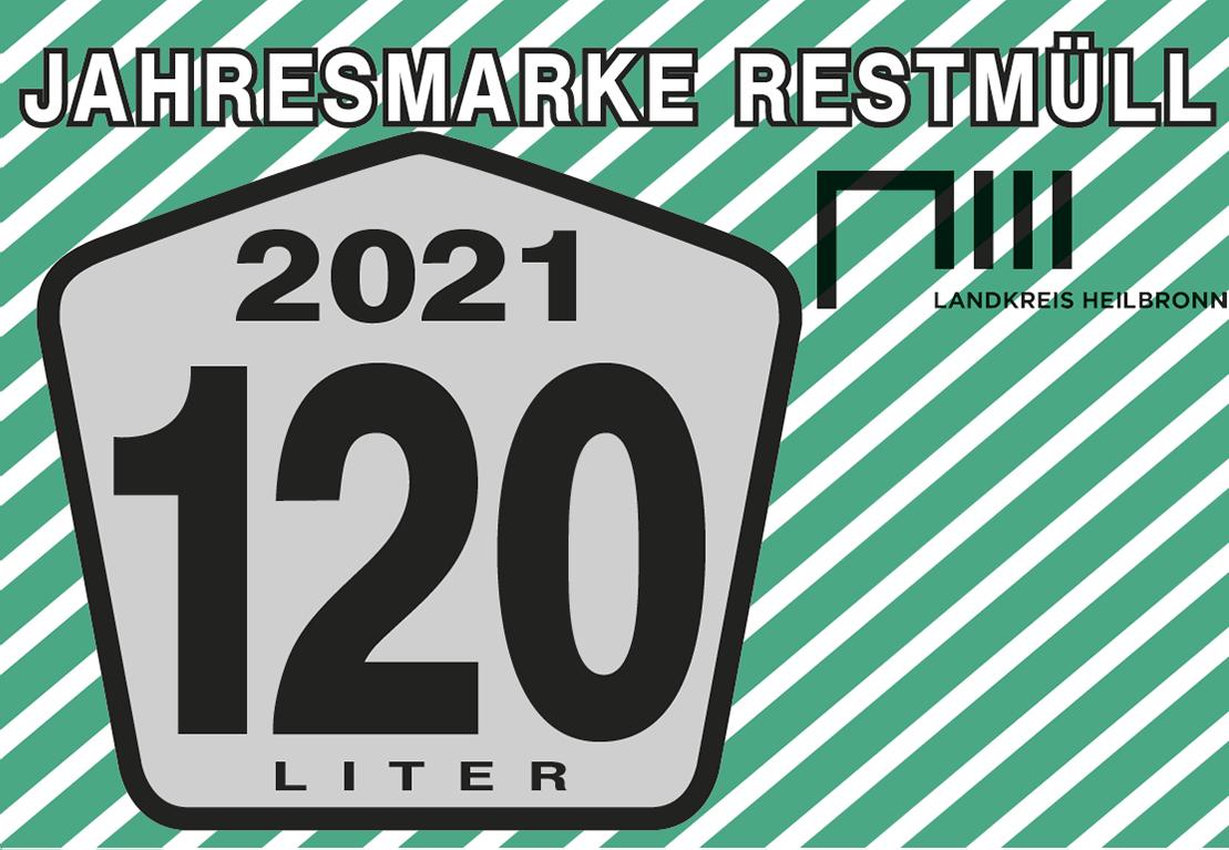 Jahresmarke 120-Liter-Restmülltonne