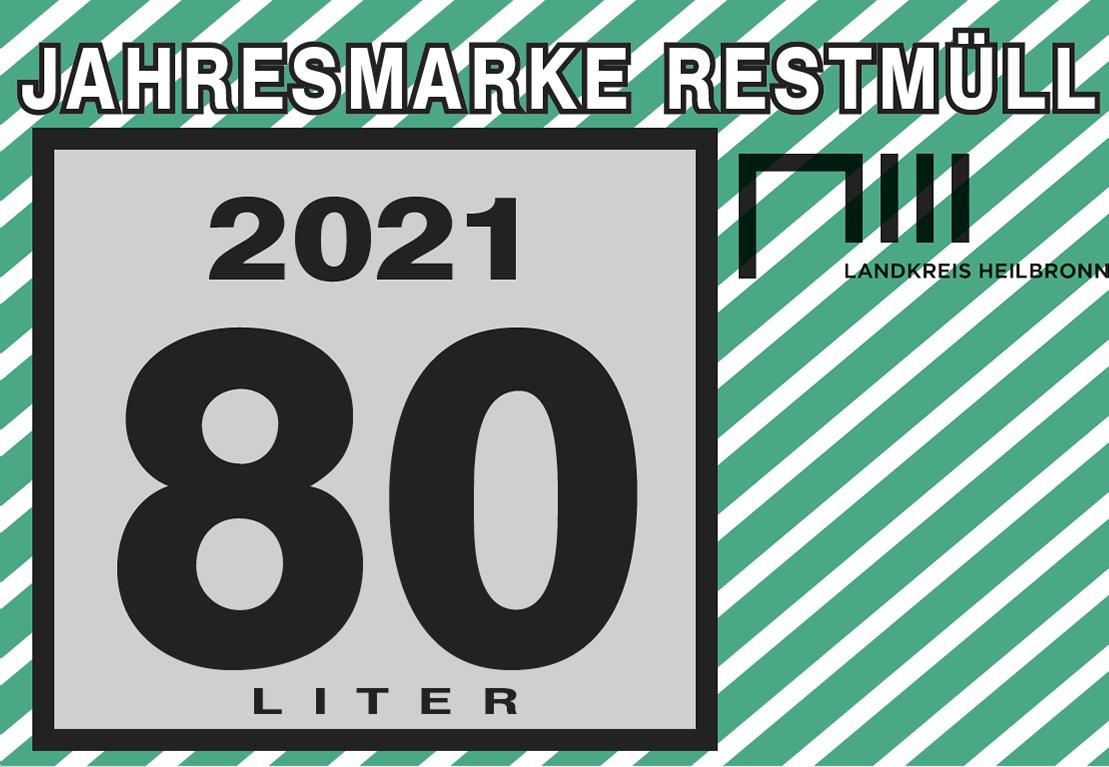 Jahresmarke 80-Liter-Restmülltonne
